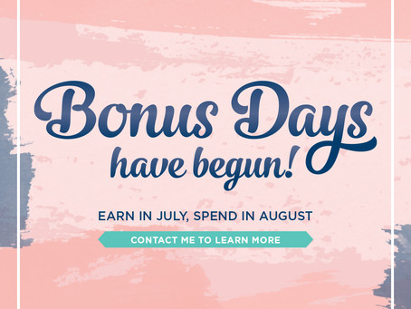 2020 Bonus Days Are Running Out!