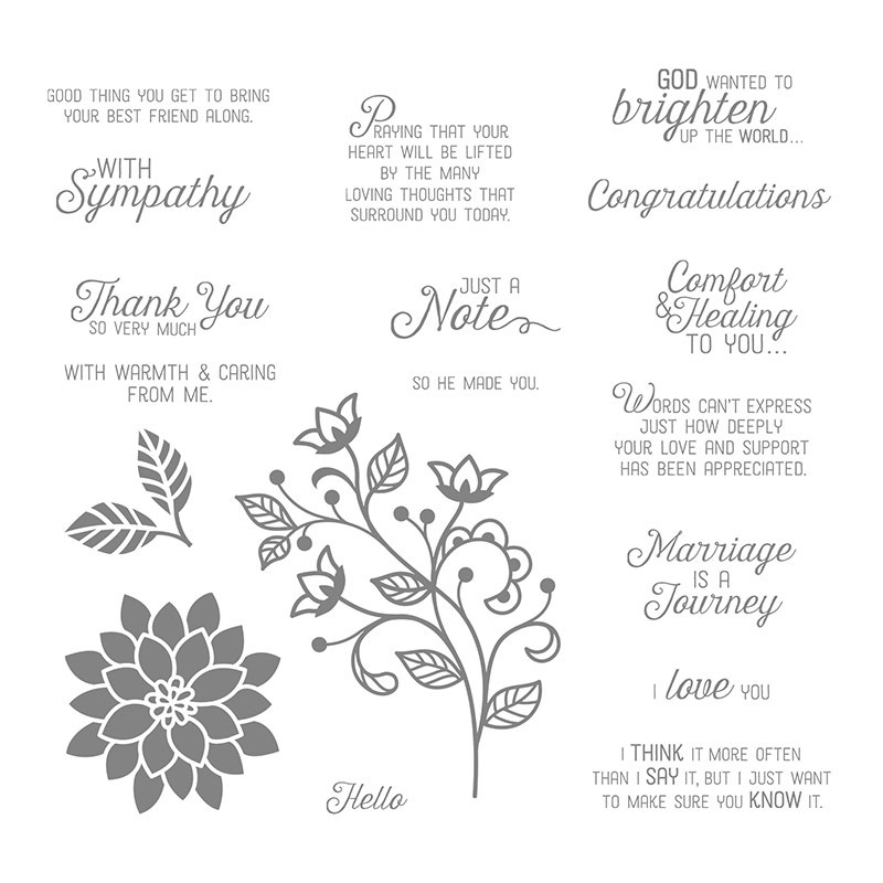 Image of Flourishing Phrases stamp set from Stampin' Up!