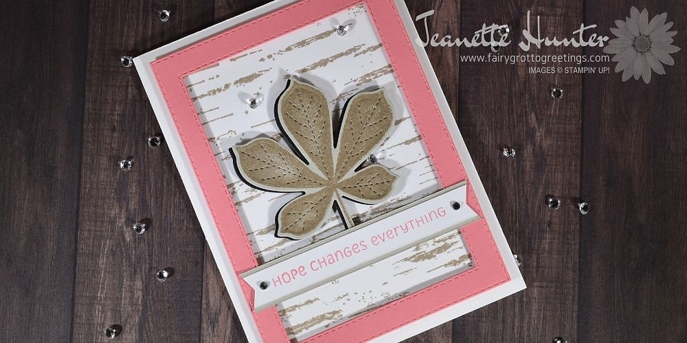 Handmade card using the Love of Leaves bundle from Stampin' Up!
