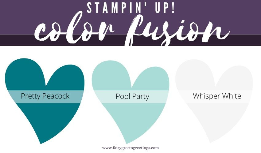 Stampin' Up! Color Fusion inspiration in Pretty Peacock and Pool Party.