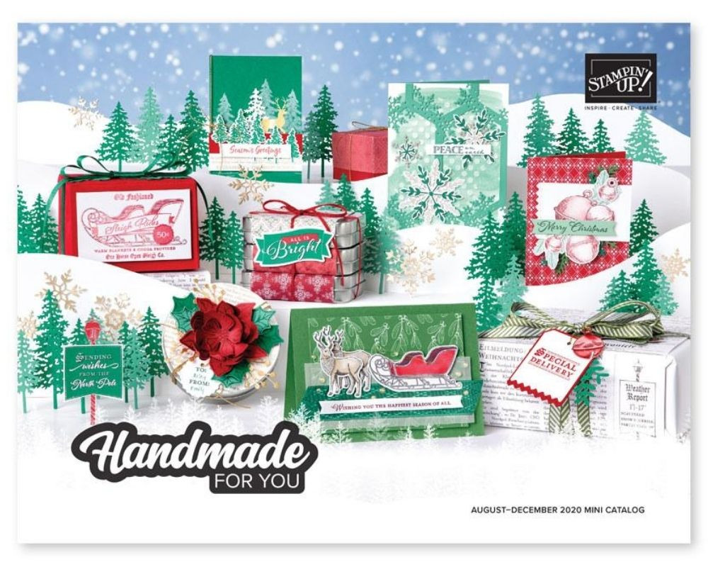 Image of the front cover of the new 2020 August - December Mini Catalog from Stampin' Up!