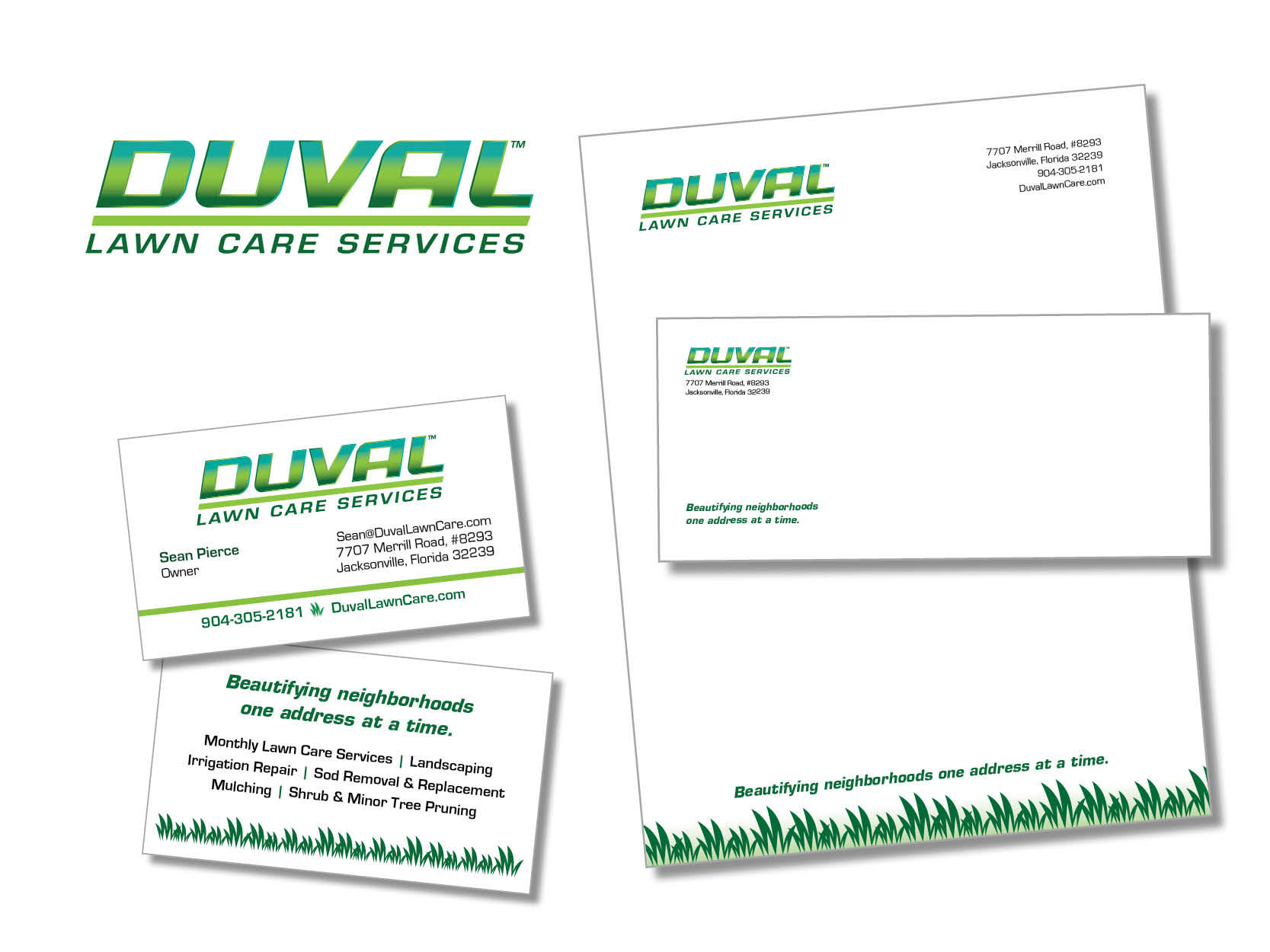 duval lawn care graphics