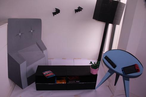 TV-less living room