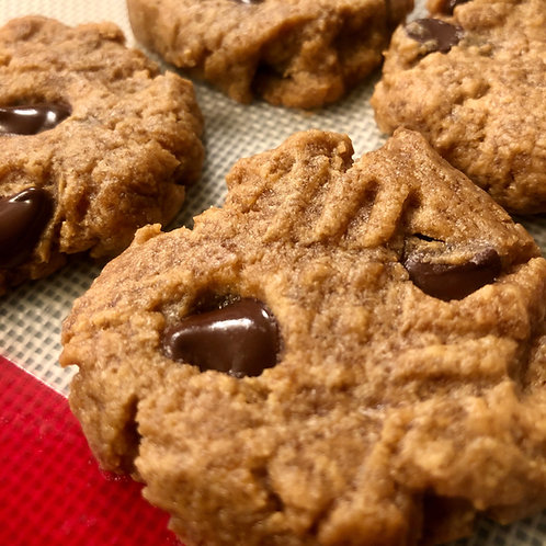 6 Peanut Butter Chocolate Chip Cookies