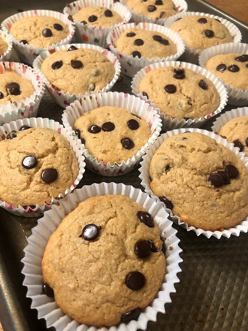 6 Keto Chocolate Chip Muffins