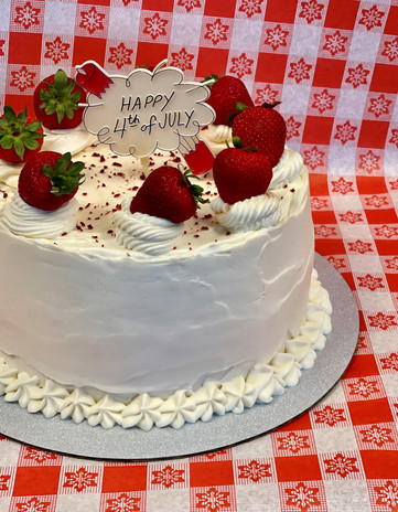 Double Layer Red Velvet with Fresh Strawberry Center