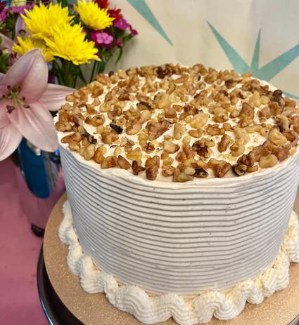 Triple Layer Carrot Cake with Cinnamon Walnuts