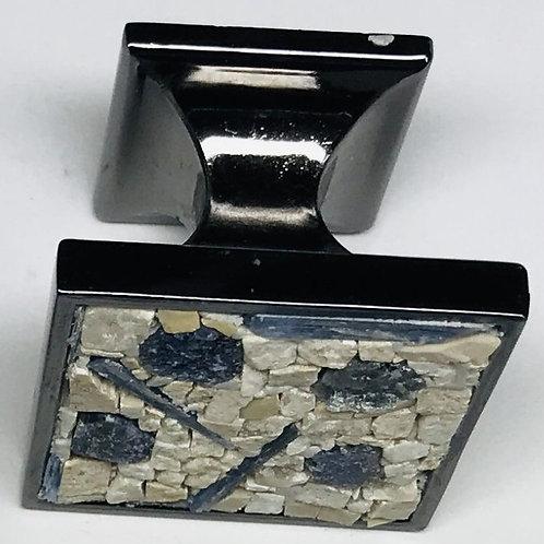 Sapphire and Kyanite Cabinet Knob Pair