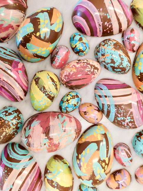 oeufs de Pâques, peints à la main