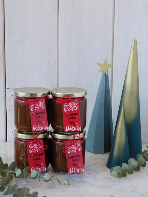 caramel salé, emballage des fêtes