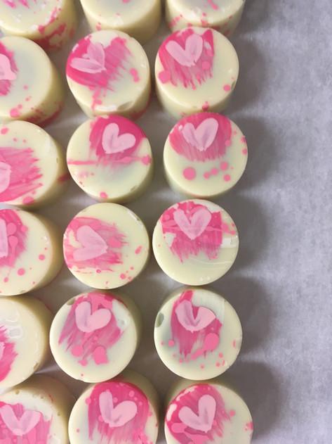 petits chocolats pour St-Valentin