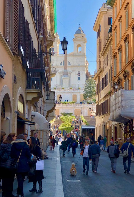 Rome - street view of spanish steps