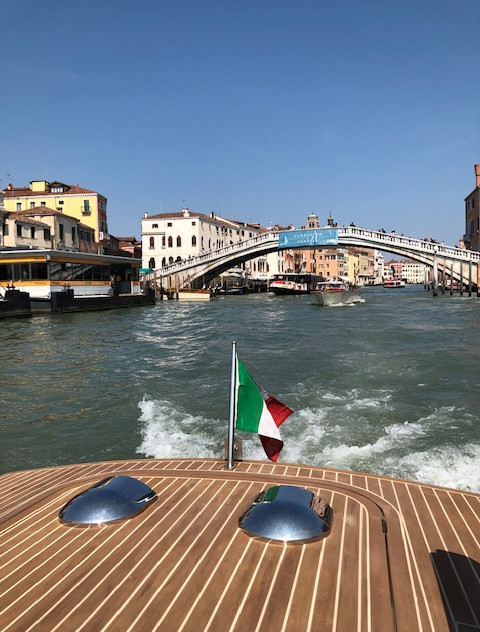 Venice - canal taxi view