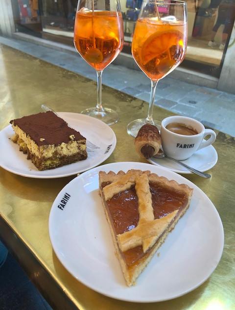 Venice - aperol spritz + coffee + cake