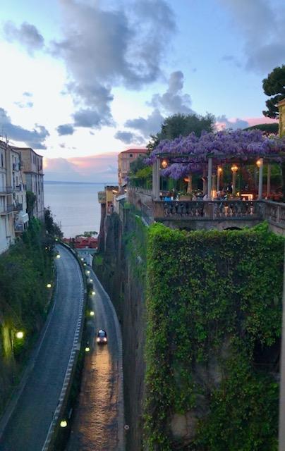 Sorrento - sunset and piazza bridge view