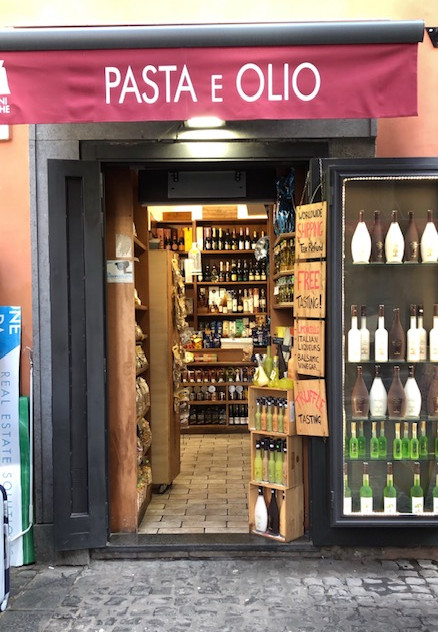 Rome - pasta and oil shop