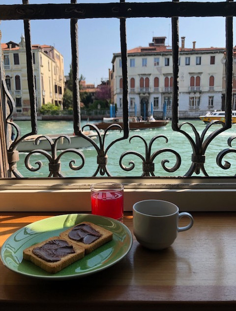 Venice - apartment window view of canal.