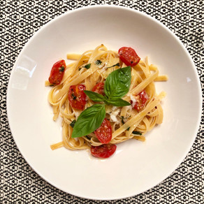 Fettuccine Pasta in Summer Cherry Tomato sauce