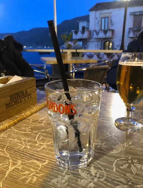 Calabria - Scilla evening drinks