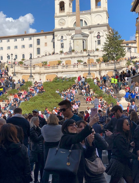 Rome - spanish steps and crowd
