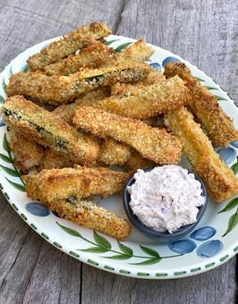 Baked Zucchini Chips - Bastoncini di Zucchine al Forno