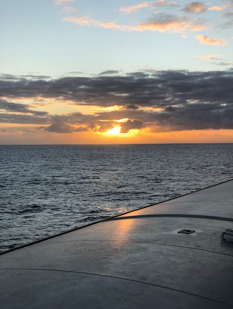 NZ Culinary Cruise - Tasman Sea - sunset