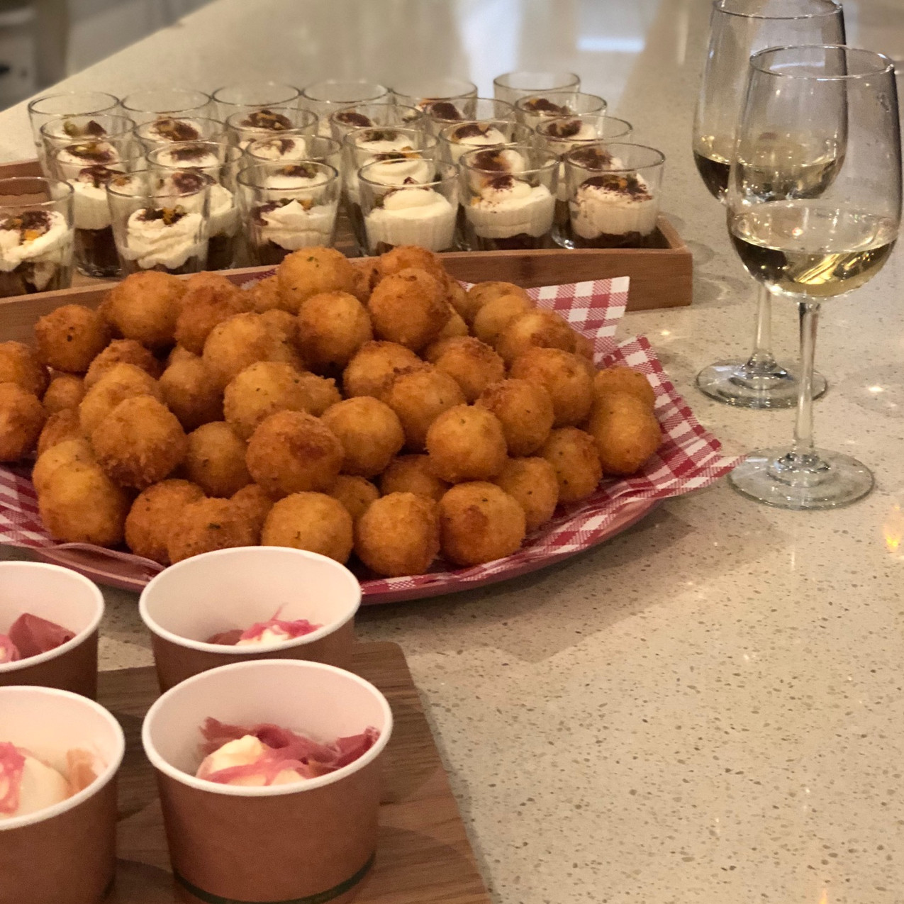 Pias Table - Book Launch - mini food sam