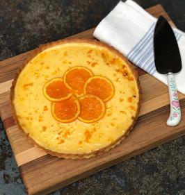 Orange Cardamom Ricotta Tart