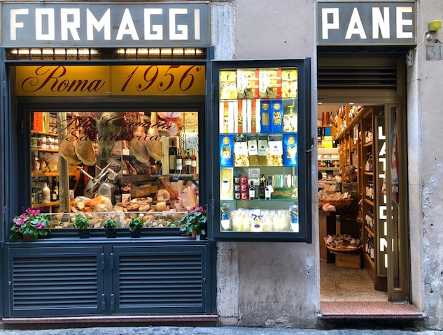 Rome - cheese and bread shop