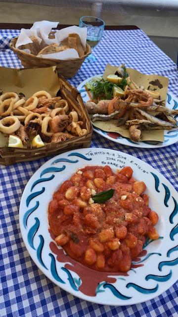 Sorrento - marina area restaurant lunch.