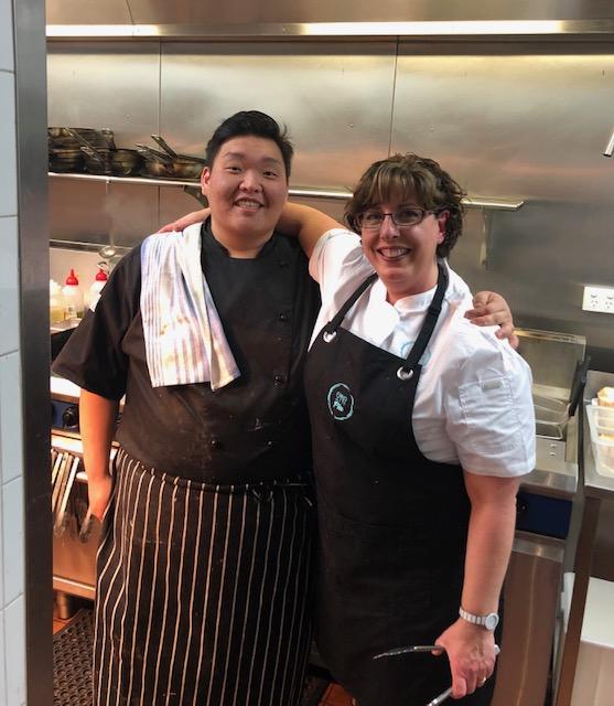Pia and Chef Daeho