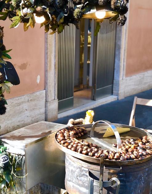Rome - castagne-street vendor