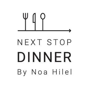 לחץ לצפייה במיתוג המלא | next stop dinner עיצוב לוגו