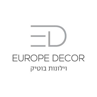 לחץ לצפייה במיתוג המלא | Europe Decor עיצוב לוגו