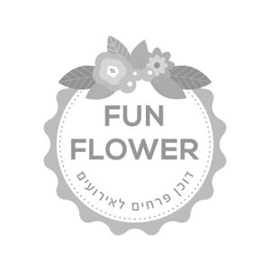 לחץ לצפייה במיתוג המלא | Fun Flower עיצוב לוגו