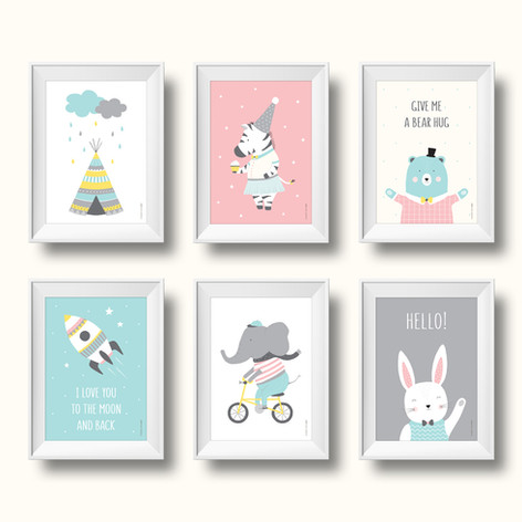 עיצוב ואיור פוסטרים לחדרי ילדים