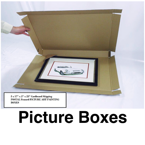 """5 x 17"""" x 2"""" x 23"""" Cardboard PICTURE/MIRROR BOXES"""