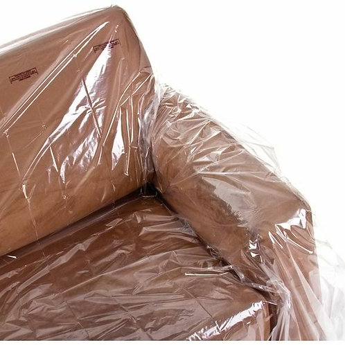 Clear Polythene 5-Seat Sofa Dust Cover Protection Storage Bags