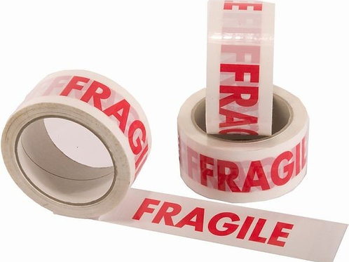 2 x LONG LENGTH PACKING TAPE STRONG - FRAGILE 48mm x 66M
