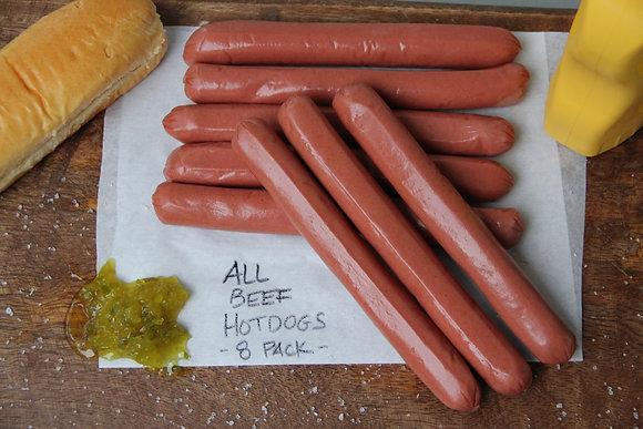 All Beef Hotdogs 38% Fat