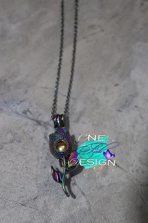 Mermaid Rose Pearl Necklace