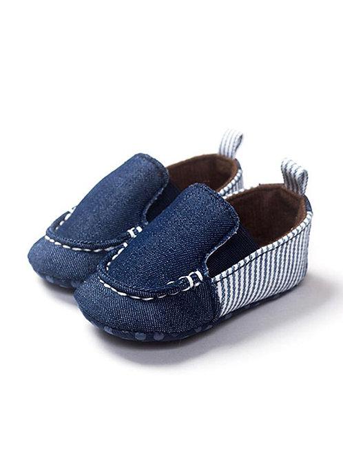Boys Stripped Crib Shoes