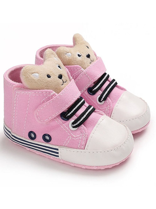 Girls' Teddy Crib Shoes