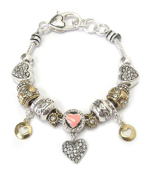 Myriad Heart Bracelet