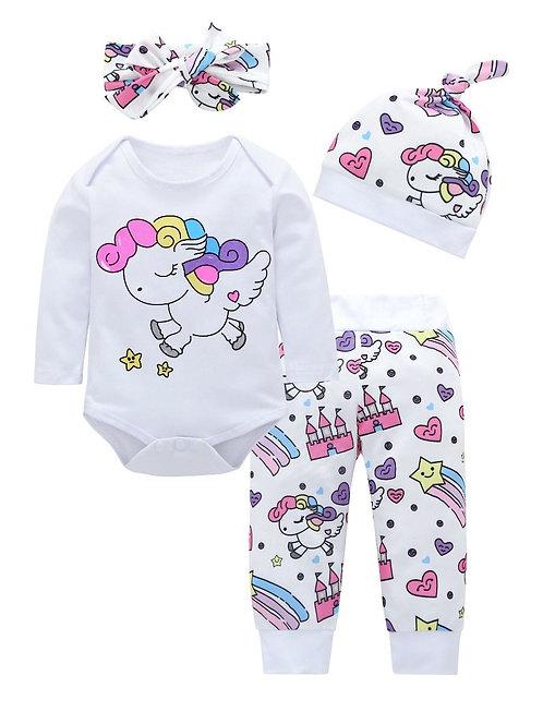 Baby Girl Unicorn Set