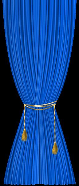 Blue_Curtain_Decorative_Transparent_Imag