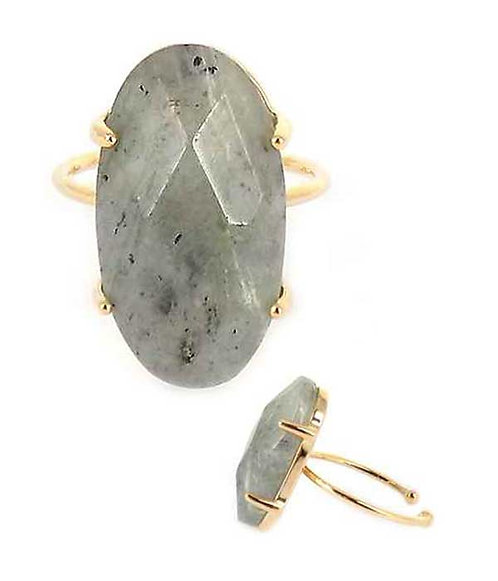 Fanciful Solid Stone Ring