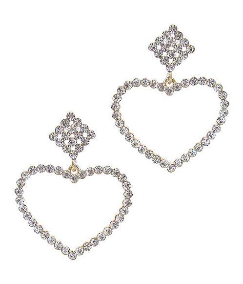 Gaudy Heart Drop Earrings