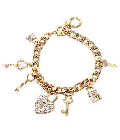 Crystal Charmed Bracelet