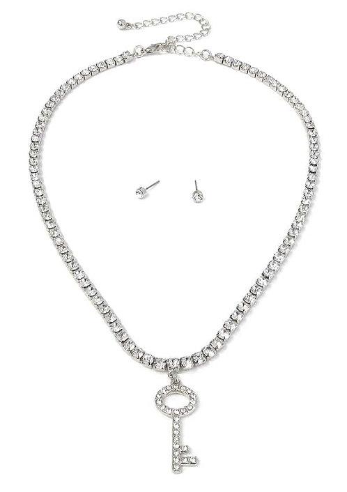Glitz Key Necklace